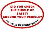 Did You Check Your Circle of Safety? Decal for Truck